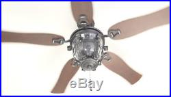 52 in. Black iron Indoor/Outdoor Downrod/Close Mount Ceiling Fan with light kit