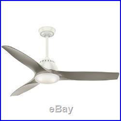 52-in Fresh White Downrod Close Mount Indoor Ceiling Fan Light Kit Remote Home