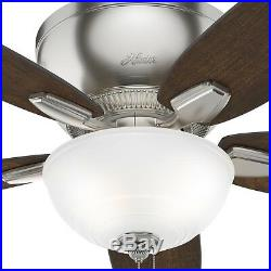 52 in. LED Indoor Ceiling Fan With Light Kit 3-Speed Grey Oak / Cherry Blades
