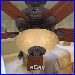 52-in New Bronze Downrod Mount Indoor Ceiling Fan Light Kit Remote Home Decor
