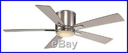 52 polished chrome ceiling fan with LED opal light kit and wall control