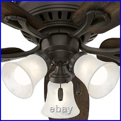 52in Ceiling Fan With Light Kit LED Oakhurst Bronze Low Profile Remote Control