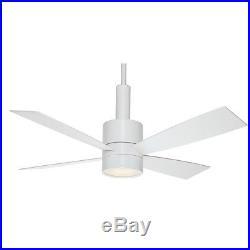 54 Casablanca 54 Ceiling Fan, Snow White Finish- Integrated Halogen Light Kit
