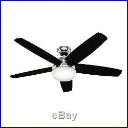 54 Hunter Fan Brushed Nickel Contemporary Ceiling Fan LED Light Kit & Remote