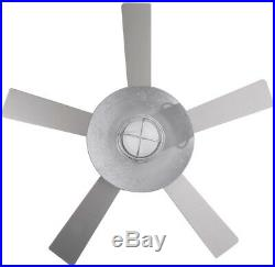 54in Indoor/Outdoor Ceiling Fan With LED Light Kit Remote Control Galvanized Steel