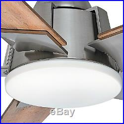 56 Casablanca Brushed Nickel Ceiling Fan with LED Light Kit
