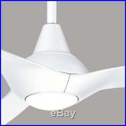 56 Large Elegant LED Ceiling Fan Remote Unique Airplane Sleek Curved Light Kit