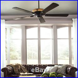 56 Large LED Ceiling Fan + Wall Remote Unique Up-Light Fixture Kit Rustic Cabin