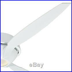 60 Casablanca Ceiling Fan, Snow White Integrated Low Wattage LED Light Kit