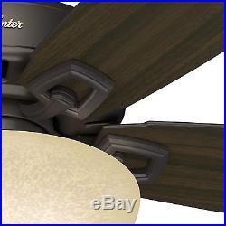 60 Hunter Premier Bronze Ceiling Fan Bowl Light Kit with Cased White Glass