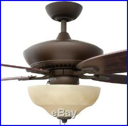 60 Inch Indoor Ceiling Fan Light Kit Rustic 3 Speed Decorative Oil Rubbed Bronze