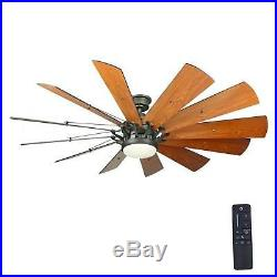60 Large Ceiling Fan Dimmable LED Light Kit Remote Control Indoor Living Room