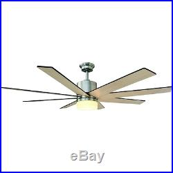 60 Large LED Ceiling Fan, Cool 9-Speed Remote Light Kit Casual Mission Nautical