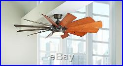 60 Large Modern LED CEILING FAN + REMOTE, Country Light Kit Quiet Cool 6 Speed