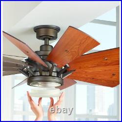 60 Led Indoor Espresso Bronze Modern Ceiling Fan Light Kit Handheld Remote