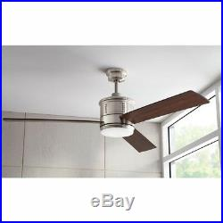 60 in. Indoor Ceiling Fan Dimmable LED Light Kit Remote Control 3-Speed Gamali