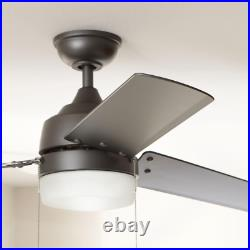 60 in LED Ceiling Fan Light Kit Indoor Outdoor Frosted Glass Reversible Motor