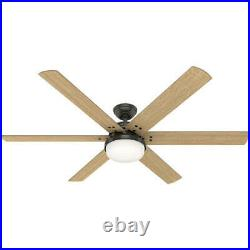 64 Noble Bronze Finish LED Indoor Ceiling Fan with Light Kit