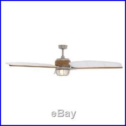 68 In 3 Canvas Blades Outdoor Brushed Nickel Ceiling Fan