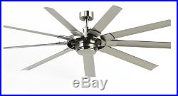 72 In Indoor Outdoor Downrod Or Flush Mount Ceiling Fan With Light Kit 9 Blade