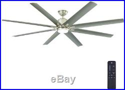 72in Integrated LED Indoor Outdoor Ceiling Fan with Light Kit and Remote Control