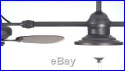 74-in Ceiling Fan Oil Rubbed Bronze In/Outdoor Downrod Mount Light Kit (6-Blade)