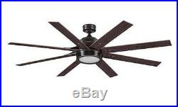 8 Blade 62 Bronze LED Indoor Ceiling Fan with Light Kit Reversible Blades