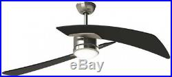 Aire Duo 48-in Indoor Downrod Mount Ceiling Fan with Light Kit Brushed Nickel