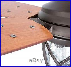 Allen Roth Castine 52 In Rubbed Bronze 5 Blades Ceiling