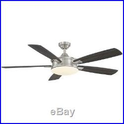 Anselm 54 in. Integrated LED Indoor Brushed Nickel Ceiling Fan with Light Kit