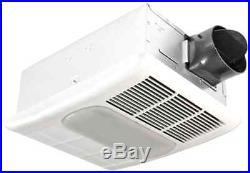 Bathroom Light Ceiling Heat Quiet Heater Ventilation Bath Fan 80 CFM Exhaust Kit