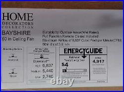 Bayshire 60'' LED I Matte Black Ceiling Fan /Remote Control &Light Kit by HDC