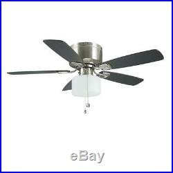 Bellina 42 in. Brushed Nickel 5 Reversible Blades Ceiling Fan with LED Light Kit