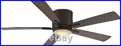 Black 52 Ceiling Fan With LED Light Kit And Wall Control