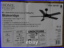 Blakeridge 60'' LED Bronze Indoor/Outdoor Ceiling Fan /Light Kit & Remote HDC