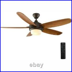 Breezemore 56'' LED Indoor Mediterranean Ceiling Fan /Light Kit & Remote by HDC