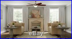 Breezemore 56 in. LED Brushed Nickel 51558 Ceiling Fan Light Kit Remote Control