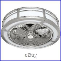 Brette 23 LED Indoor/Outdoor Brushed Nickel Ceiling Fan Light Kit and Remote