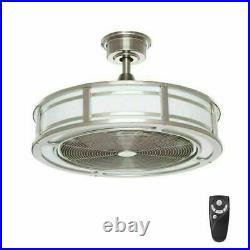 Brette 23 in. LED Indoor/Outdoor Brushed Nickel Ceiling Fan Light Kit