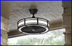 Brette 23 in. LED Indoor/Outdoor Espresso Bronze Ceiling Fan with Light Kit with