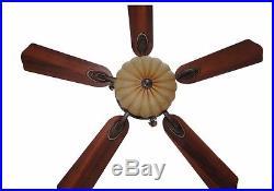 Bronze Gold 52 in. Quiet Ceiling Fan Remote Elegant Fancy Tuscan Bowl Light Kit