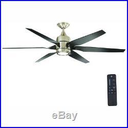 Brushed Nickel 60 LED Indoor Ceiling Fan Reversible Motor W Light Kit &