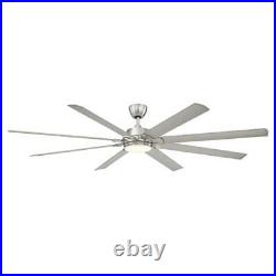 Brushed Nickel Ceiling Fan 84 in. Remote Control Aluminum Blade LED Light Kit
