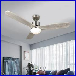 CO-Z 52-inch Ceiling Fan with Light Kit and Remote Control Nickel CFN-1056-NI