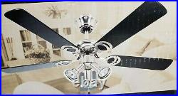 Canarm Brushed Pewter 42 5 Blade Ceiling Fan BLACK with Light Kit 052-4381-4