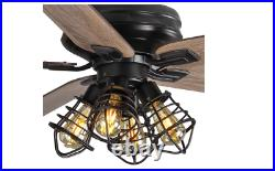 Carlisle 60 in. LED Matte Black Ceiling Fan with Remote Control and Light Kit