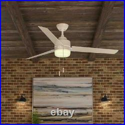Carrington 60 in. LED Indoor/Outdoor White Ceiling Fan with Light Kit