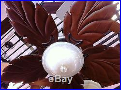 Carved Wood Leaf Blade Bahama Style Ceiling Fan Anchor Fans