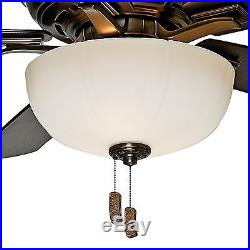 Casablanca 54 Bronze Patina Ceiling Fan Fan with Cased White Glass Light Kit