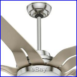 Casablanca 56 Contemporary Brushed Nickel Indoor Ceiling Fan with LED Light Kit